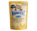 Happy Cat All Meat Adult Chicken & Duck (Huhn & Ente)      24 x 85 g