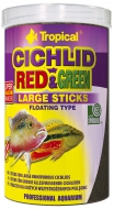 Tropical Cichlid Red & Green LARGE Sticks 300g