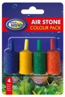 Aqua Nova Lüftersteine Zylinder 15 x 25 mm 4 Stück Color Pack