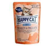 Happy Cat All Meat Adult Turkey & Pollack (Truthahn & Seelachs) 24 x 85 g