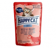 Happy Cat All Meat Adult Beef & Heart (Rind & Herz) 24 x 85 g
