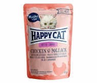 Happy Cat All Meat Kitten / Junior Chicken & Pollack (Huhn & Seelachs) 24 x 85 g