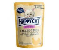 Happy Cat All Meat Kitten / Junior Chicken & Duck (Huhn & Ente) 24 x 85 g
